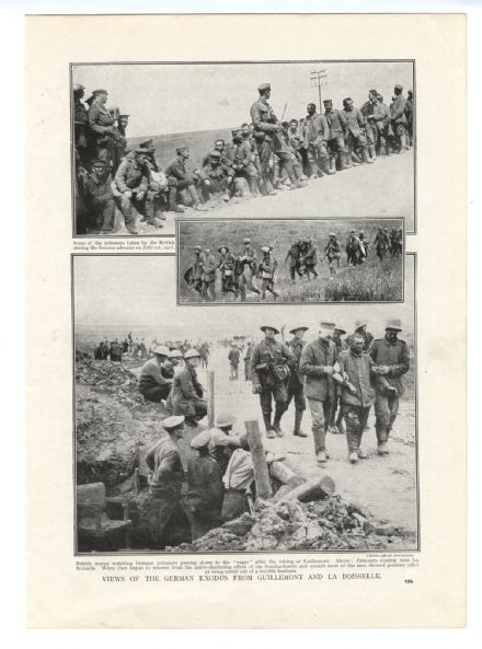 1916 WW1 Print SOMME German Retreat GUILLEMONT La Boisselle YMCA TRENCH SHOP
